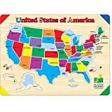 The Learning Journey Lift & Learn Puzzle - USA Map - Preschool Toys & Gifts for Boys & Girls Ages 3 and Up