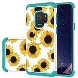 Ueokeird Designed for Galaxy S9 Case/Galaxy S9 Case Girls Women, Shockproof Defender Heavy Duty Phone Cover Cases for Samsung Galaxy S9 (Sunflower)