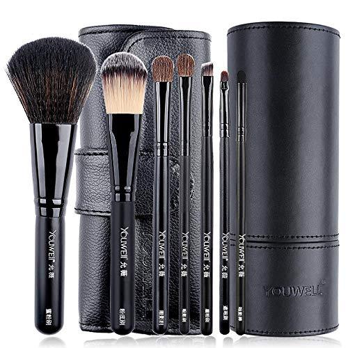 Ensemble De Pinceaux De Maquillage Pinceau Fard À Paupières Portable Repair Volume Poudre Blush Brush, Classic Black + B