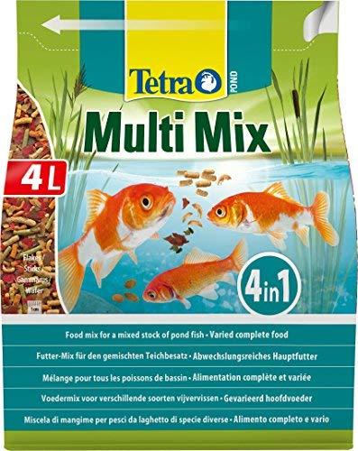 Tetra Pond Multi Mix 4 L Mangime per Pesci, Composto da 4 Diversi Tipi di Cibo (Cibo in...