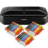 Canon PIXMA iX6850 Drucker Farbtintenstrahl Drucker DIN A3+ (Bürodrucker, Fotodruck, Textdruck, 9.600 x 2.400 DPI, WiFi, WLAN, USB, Direktdruck, Print App) schwarz + 15 kompatiblen XL Patronen