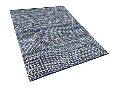 Bawełniany dywan styl boho 160 x 230 cm ręcznie tkany kolorowy Alanya