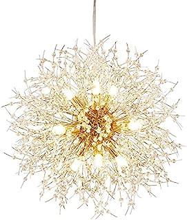 Qamra Modern Gold Crystal Chandeliers, Firework Dandelion...