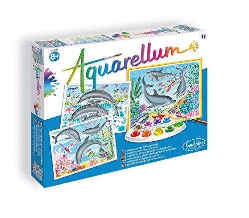Le coffret loisirs créatifs d'aquarelles dauphins
