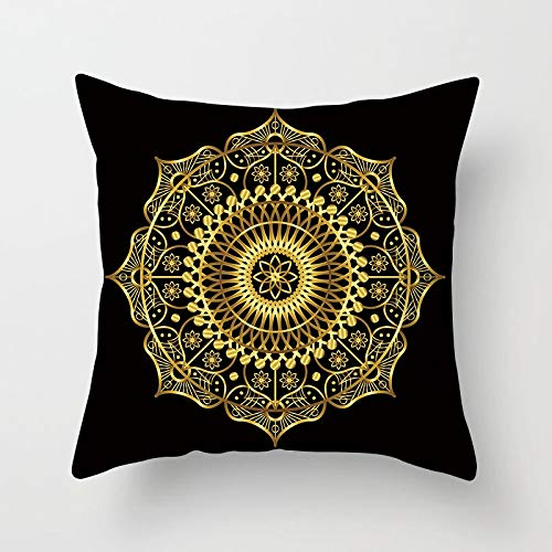 1 paar gouden mandala geometrische kussensloop 45x45cm stoel sofa sofa stoffering decoratie bohemien mode Nordic kussensloop kussen zonder kern (Grootte : 45X45CM, Kleur : TPR010 18)
