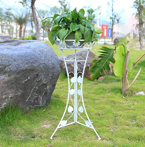 HOMRanger Estante de Almacenamiento Iron Art Flower Stand Estantes de Plantas de Interior y Exterior Balcón Sala de Estar Flower Pot Display Display (Color: Blanco, Tamaño: 7840CM)