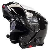 Viper RS-V171 Blinc Bluetooth + 3.0 Fullface Helm Klapphelm Motorrad Helm Roller mit Doppelvisier Motorradhelm Damen und Herren Integralhelm ACU Gold gestempelt Schwarz glänzend XS (53-54cm)