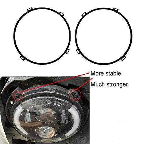 i-Shop Lot de 2 anneaux de fixation ronds pour phare 17,8 cm