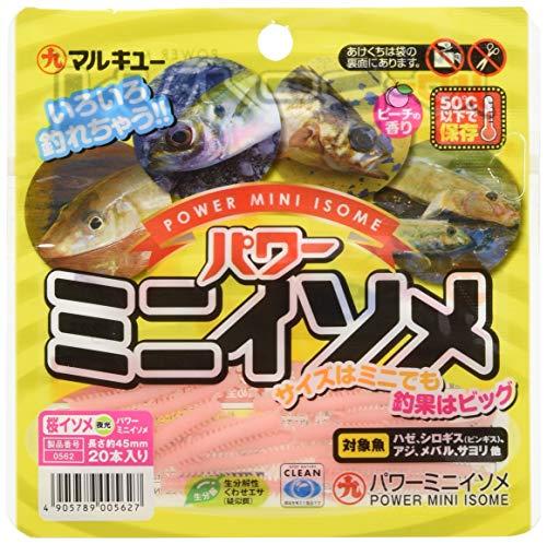 マルキュー(MARUKYU) ワーム パワーミニイソメ 約4.5cm 桜イソメ(夜光) ルアー
