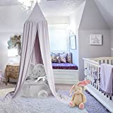 Little Princess Prince Multicolor Super Sweet Bed Canopy Mosquitera para niños Cama de bebé Round Dome Castle Play Carpa Casa Colgante Decoración de la casa Rincón de Lectura Algodón Medianoche[1#]