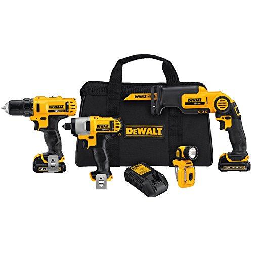 DEWALT DCK413S2 12-Volt MAX 4-Tool Combo Kit - DEWDCK413S2