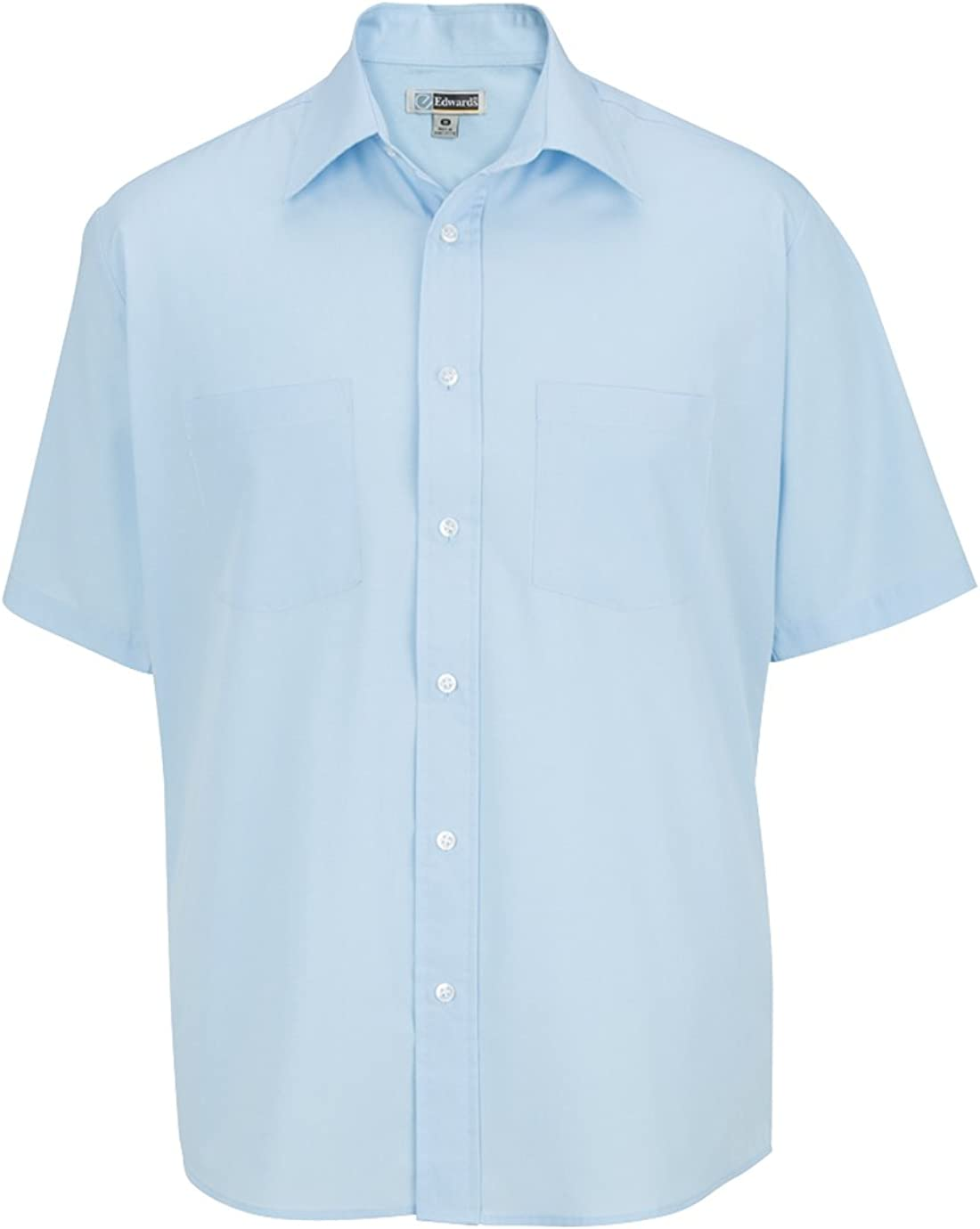 Edwards Garment Men's Business Performance Broadcloth Short Sleeve Work Shirt