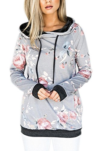 (40% OFF Coupon) Women's Floral Hoodie $11.39