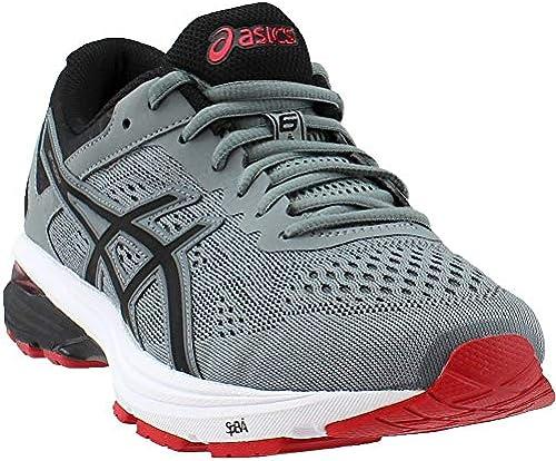 ASICS Men& 039;s GT-1000 6 Running schuhe, Stone grau schwarz rot, 12.5 D(M) US
