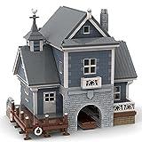 Bloques de construcción MOC, juego de construcción de peces, construcción modular, compatible con tienda de pesca Lego 21310, 3703 bloques de construcción