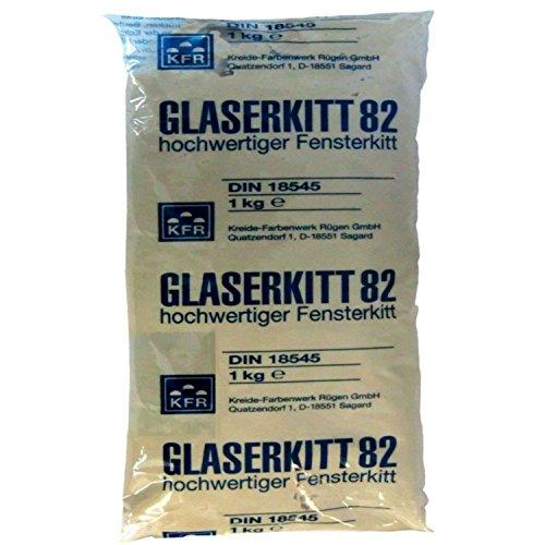 10 Kg Glaserkitt 82 - hochwertiger Fensterkitt/Glaserkitt beige/DIN 18545 (10)