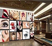 RTYUIHN 3D壁紙ファッションビューティーサロン半永久的な顔眉唇ネイルデコレーションモダンウォールアートデコレーション