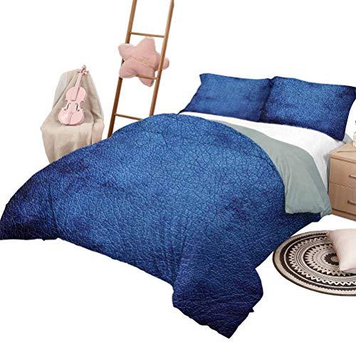 Juego de edredón para sofá cama Colchas de 3 piezas de color azul marino Colcha de piel extraterrestre marciano como azul oscuro Diseño de espacio interesante contemporáneo Lámina tamaño Queen Azul os