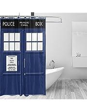 マキク(MAKIKU) シャワーカーテン おしゃれ 防カビ リング付属 バスカーテン ユニットバス 浴室 脱衣所 取付簡単 150x180 165x180