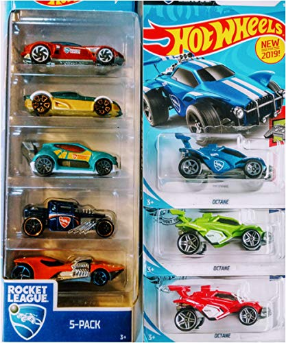 Hot Wheels 8 Car Rocket League Bundle Includes Rocket League 5 Pack Octane 3 Variations