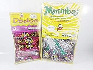 Box Of Lollipop Marimbas and Dedos Indy Spicy And Sour Candy Authentic Mexican Candy With Free