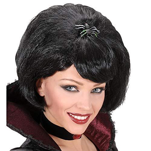 Black Widow pruik met spin voor kostuums en outfits