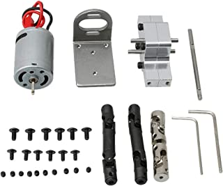 BQLZR WPL1678 Silver Motor Transfer Gearbox Set Middle Drive Shaft Central Gearbox 370 Motor Base for WPL RC1:16 B14 B16