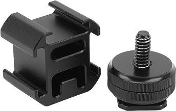 Triple 3 Cold Shoe Mount, nieuwe kwaliteitsborging Multifunctioneel ontwerp 3 Cold Shoe Mount voor camerastatief voor micr...