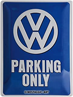 VW Volkswagen Parking Only large embossed steel sign (na 4030) by signs-unique