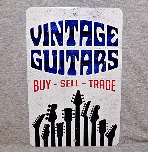 Ol322ay Metal Sign VINTAGE GUITARS winkel show collector gitarist elektrische akoestische gitarist bijl oude aluminium man grot decor