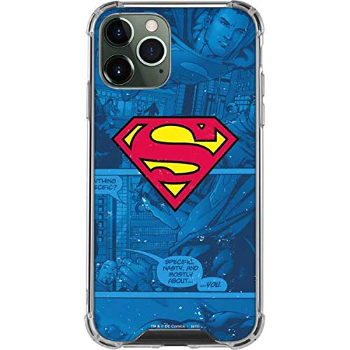 Skinit Clear Phone Case Compatible with iPhone 12 Pro Max - Officially Licensed Warner Bros Superman Logo Design