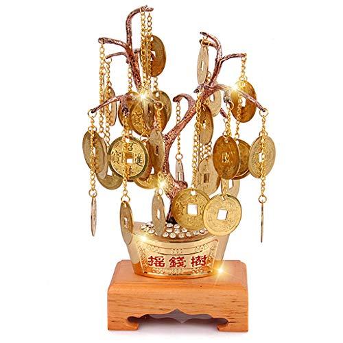Árbol del Dinero Feng Shui Chino Dinero de la Moneda del árbol for la abundancia de la Salud y financiero Ganancias de Equilibrio de Chakra Regalo Lingotes Bonsai Estilo Arboles Artificiales