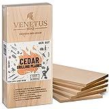 VENETUS-BBQ Tablas XL de madera de cedro canadiense para asar (juego de 6)