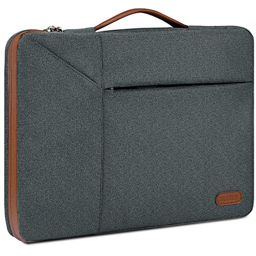 Laptop Case Sleeve 14 Inch Briefcase Waterproof Shock Resistant Laptop Cover Bag Compatible Notebook/Chromebook/ThinkPad/Ultrabook, MacBook Pro 15 Inch 2016-2019, Darkgrey
