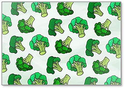 Illustratie van Broccoli Patroon Schets Stijl Koelkast Magneet