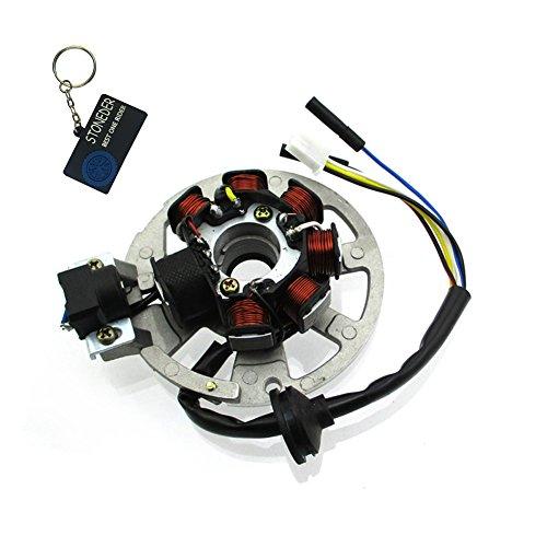 STONEDER 5 cables 7 bobinas de encendido magneto estator para 2 tiempos Yamaha JOG Minarelli 50 90 Eton Arctic Cat 50 90cc Scooter ATV Alpha Sports 50cc 70cc 90cc ATV 1PE40QMB 1PE50QMF