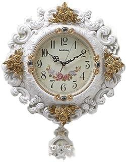 Home Wall Clocks Clock European retro clock not ticking whisper quiet wall clock art swing quartz clock decoration bedroom...