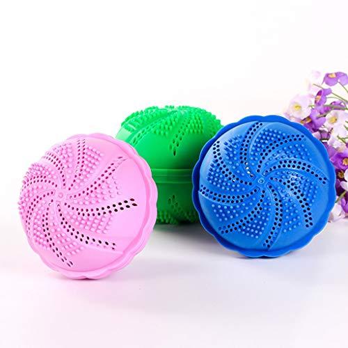 Nano bamboe houtskool wasbal, wasmachine wasbal, zonder wasmiddel, kan worden hergebruikt 2.000 keer, natuurlijke niet-toxische wasbal (Random Color).