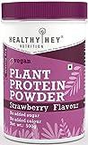 HealthyHey Nutrition Plant Protein Powder, Vegan Protein - Strawberry Flavour, Low Net Carbs, Non...