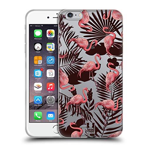 Head Case Designs Flamenco Flora Tropical Y Fauna Carcasa de Gel de Silicona Compatible con Apple iPhone 6 Plus/iPhone 6s Plus