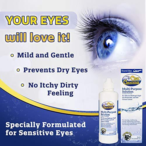 Clear Conscience Mehrzwecklösung für Kontaktlinsenflüssigkeit, 85 ml - 2