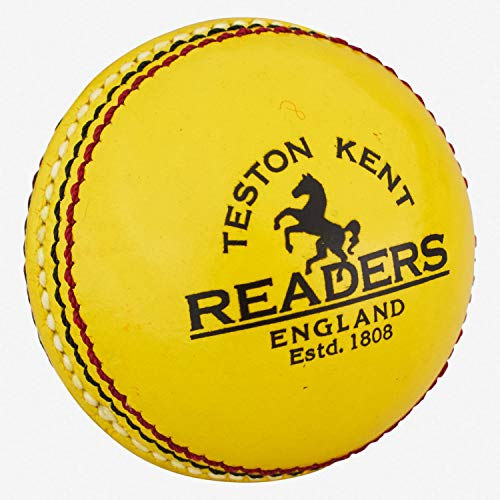 Readers Indoor Leather Pelota de críquet, Unisex, Amarillo, Hombres