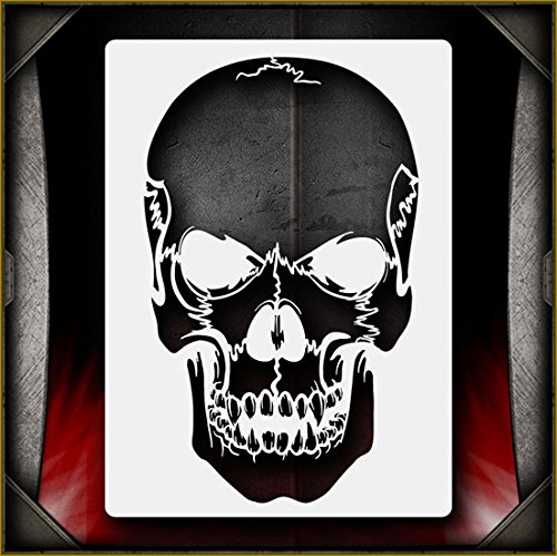 Evil Skull 25 AirSick Airbrush Stencil Art Design Template