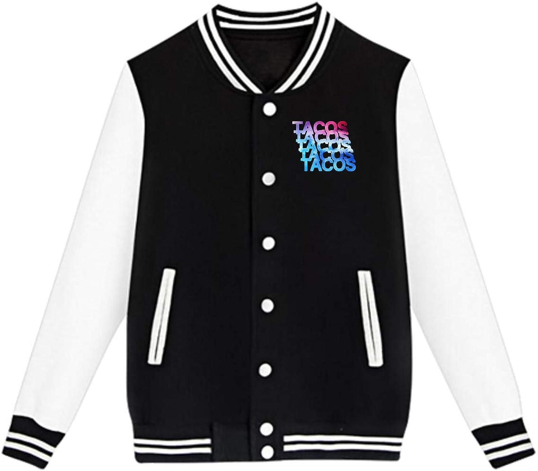 Tacos Tacos Tacos Tacos Tacos Teenage Baseball Uniform Jacket Sport Coat