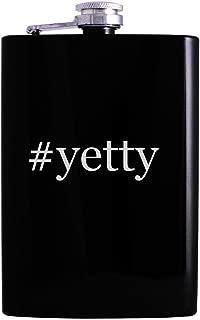 #yetty - 8oz Hashtag Hip Alcohol Drinking Flask, Black