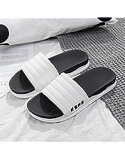 Ktimor Badslippers voor dames, antislip platte slippers, Quick Drying Open Toe House schoenen voor zwembad, strand, fitnessruimte, binnen en buiten