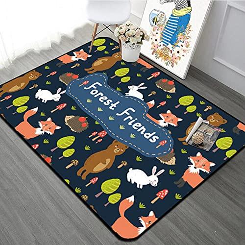 Cartoon Dinosaur Kids Dormitorio Alfombra de cristal paño grueso y suave para la puerta del cuarto de baño Baby Crawling Play Mat cabecera sala de estar alfombra