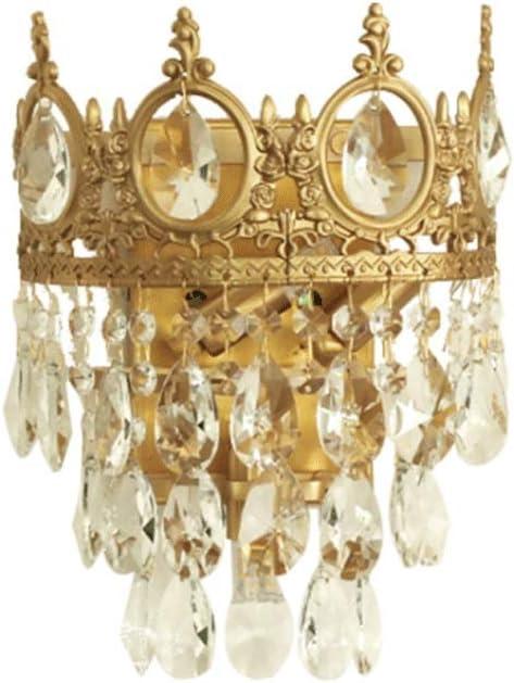 Special sale item Wmdtr Post-Modern Crystal Wall Light Max 63% OFF Creativity Brass Lamp