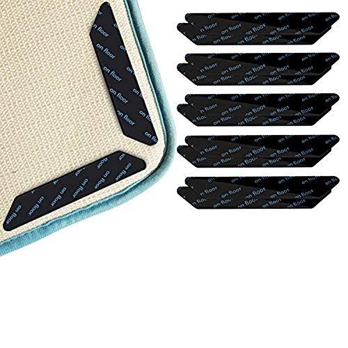 MAILIER 10 pinzas de doble cara para alfombras de madera y suelos duros, lavables o pegatinas para todos los tipos y tamaños de alfombras