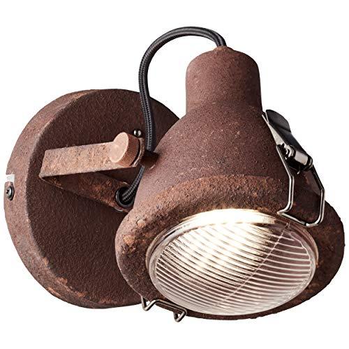 Brilliant 26810/60 plafondlamp metaal/glas roest zwart